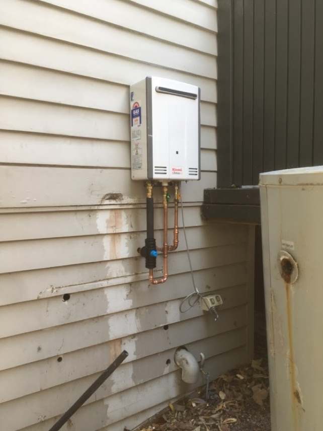 gallant plumbing hot water installation 3