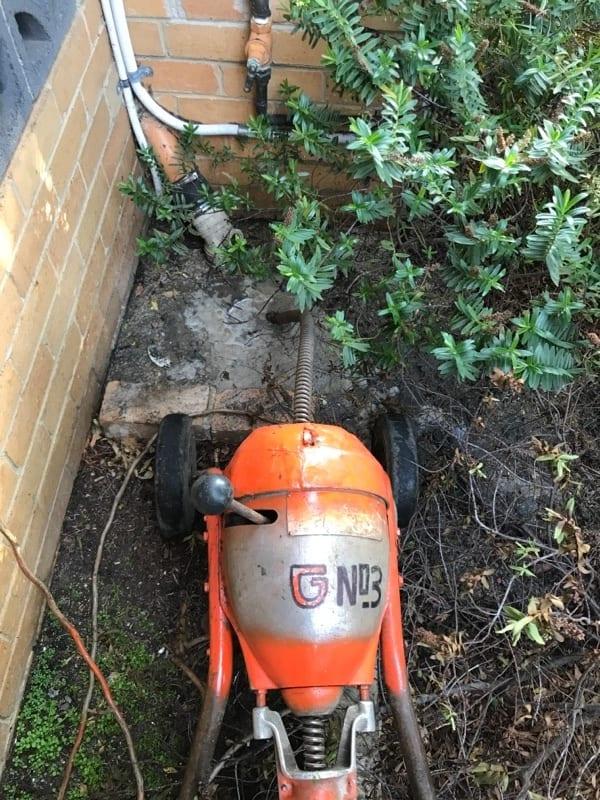 Residential Plumbing, Hawthorn, Sewer machine setup