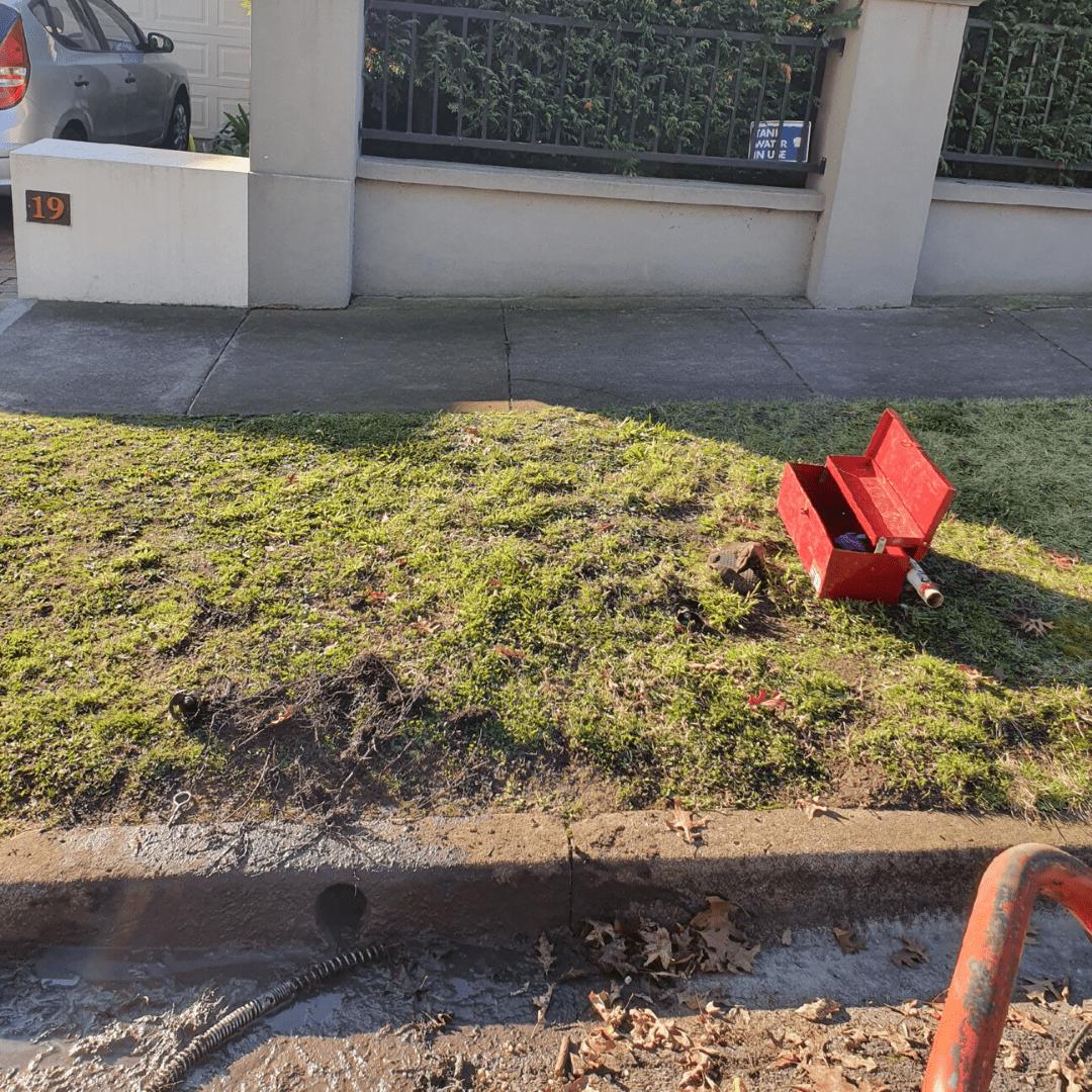 Residential Plumbing, Camberwell, Sewer machine setup
