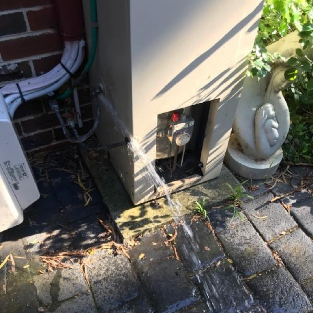 Residential Plumbing, Canterbury, draining old hot water system