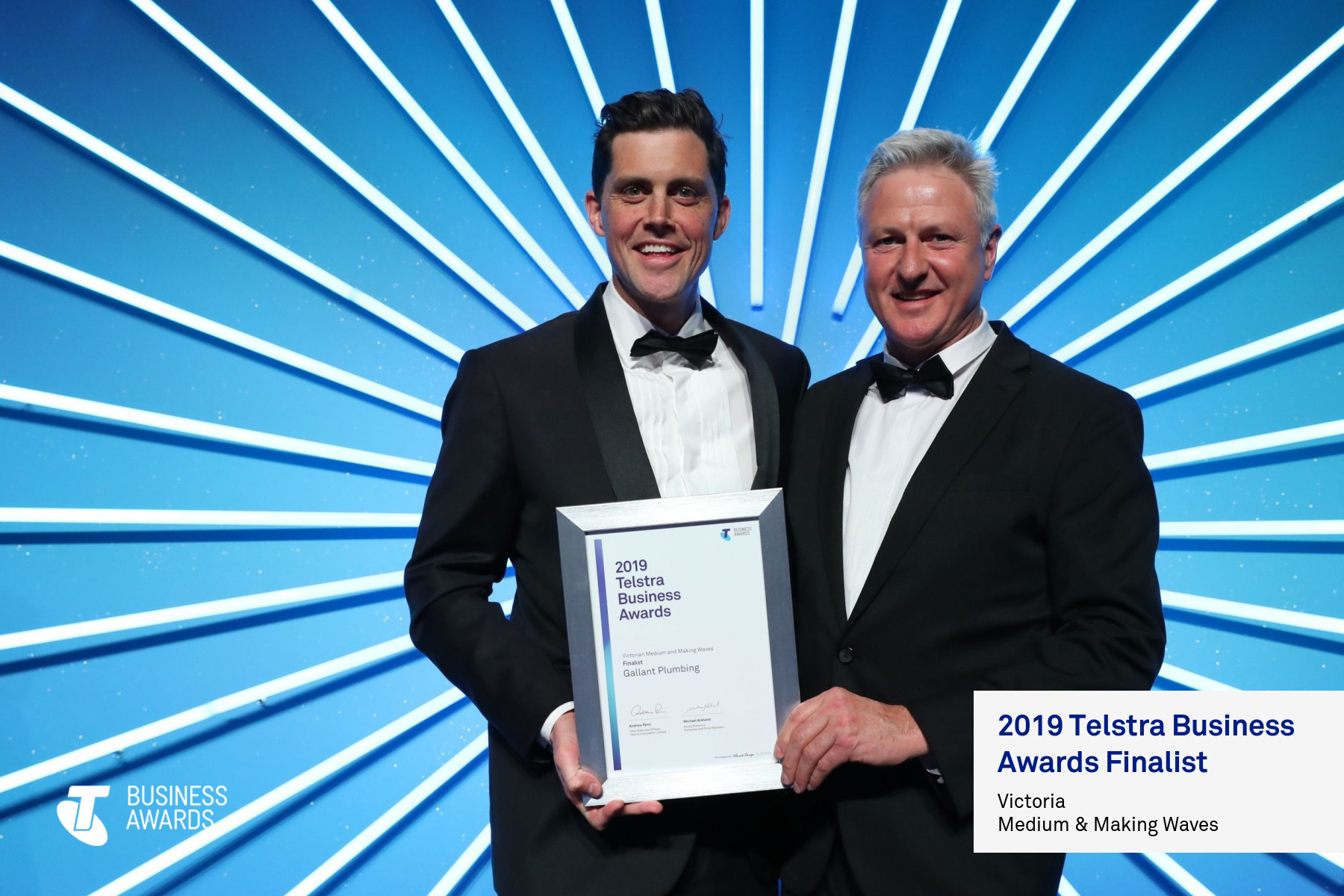 Plumber Melbourne, Telstra Business Awards