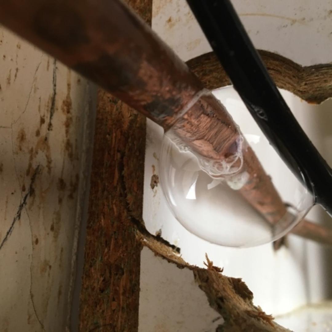Residential Plumbing, Balwyn, Leak in copper gas pipe
