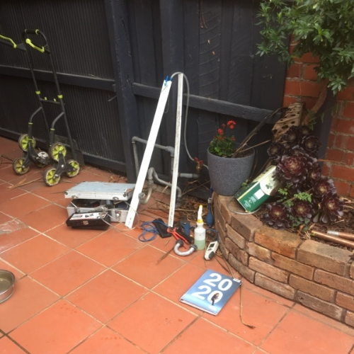 Residential Plumbing, Alphington, Gas line and meter pre works