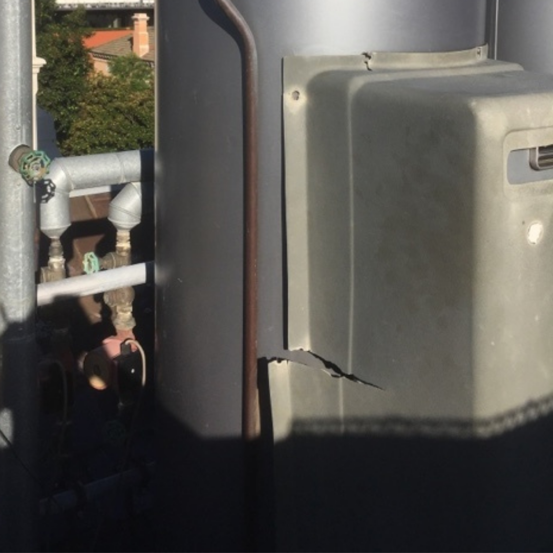 Plumber Melbourne, Port Melbourne, Existing Damage to HWU Booster Cover