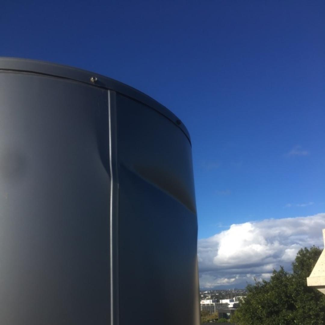 Hot Water Service, Port Melbourne, Damaged Booster Storage Tank