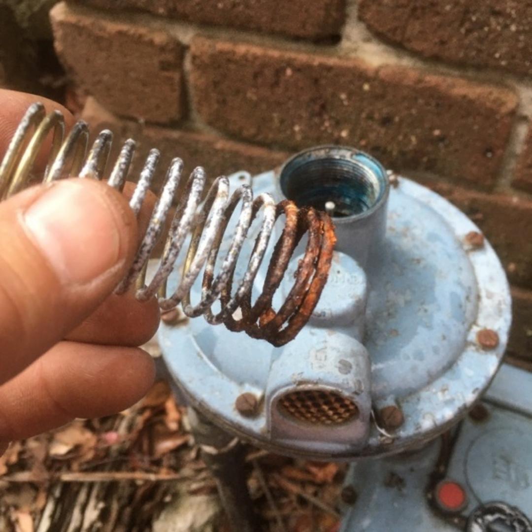 Plumber Melbourne, Canterbury, Gas Meter Regulator Corroding